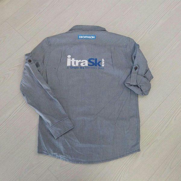 camisa bordada o serigrafiada